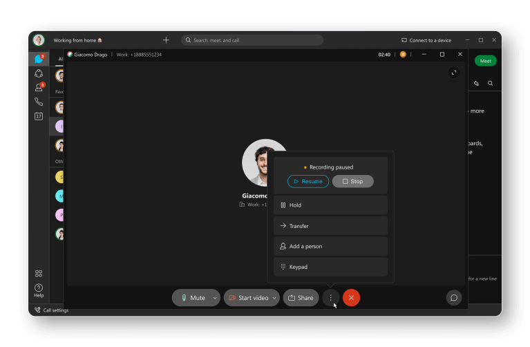 Automatic or on-demand call recording accessed from anywhere