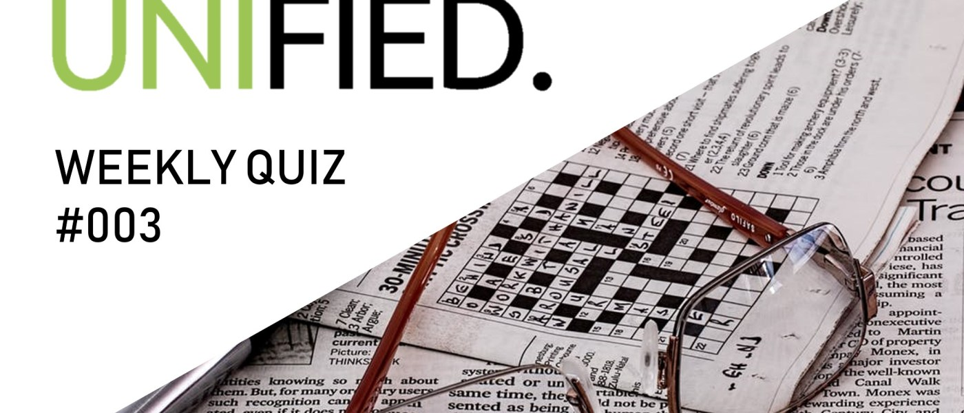 UNIfied Weekly Quiz / #003