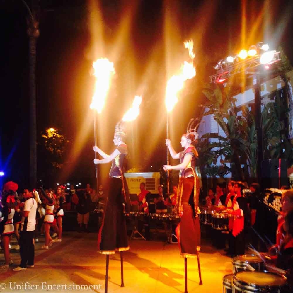 Aztec Fire Dancers