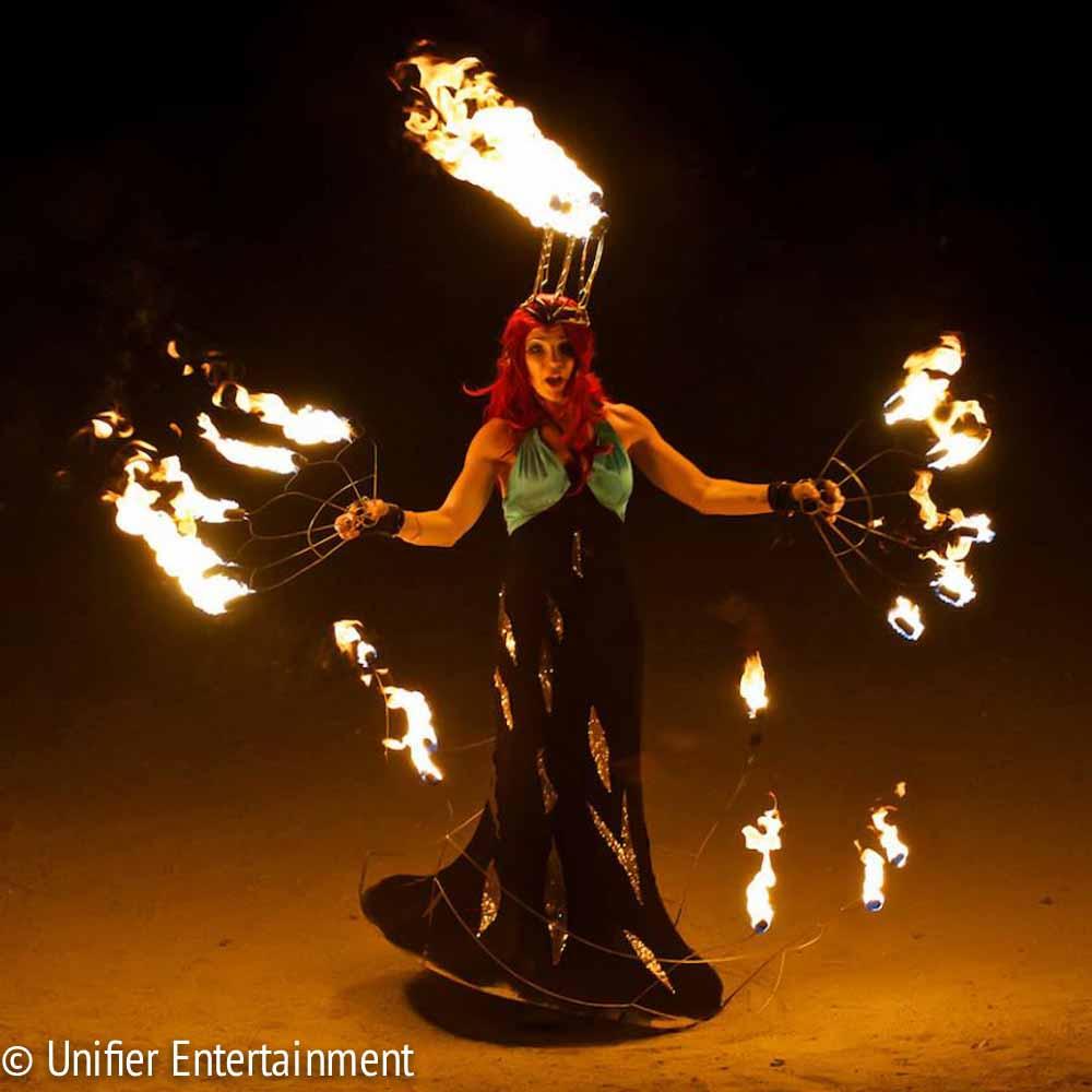 Fire Skirt Headdress Unique