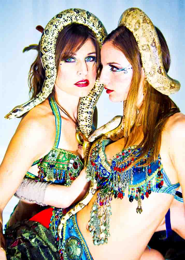 Sexy Snake Dancing Sisters