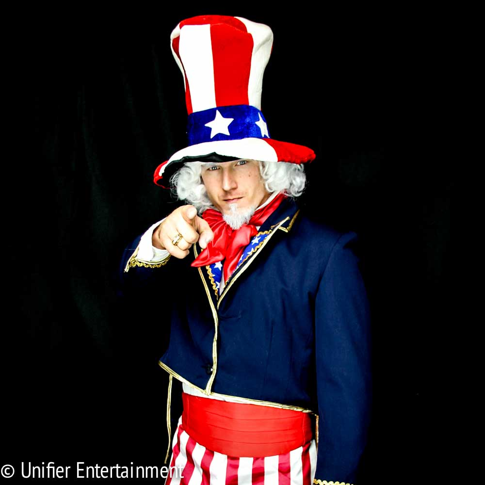 Uncle Sam Costumed Character Pointing at the Viewer