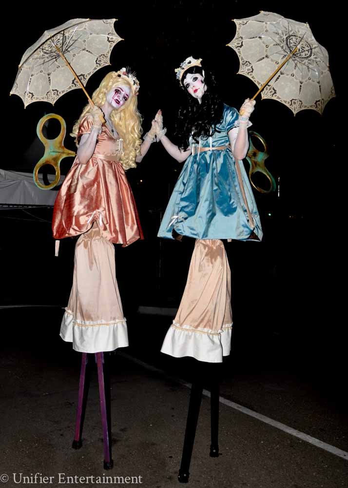 Wind Up Dolls Stilt Walkers