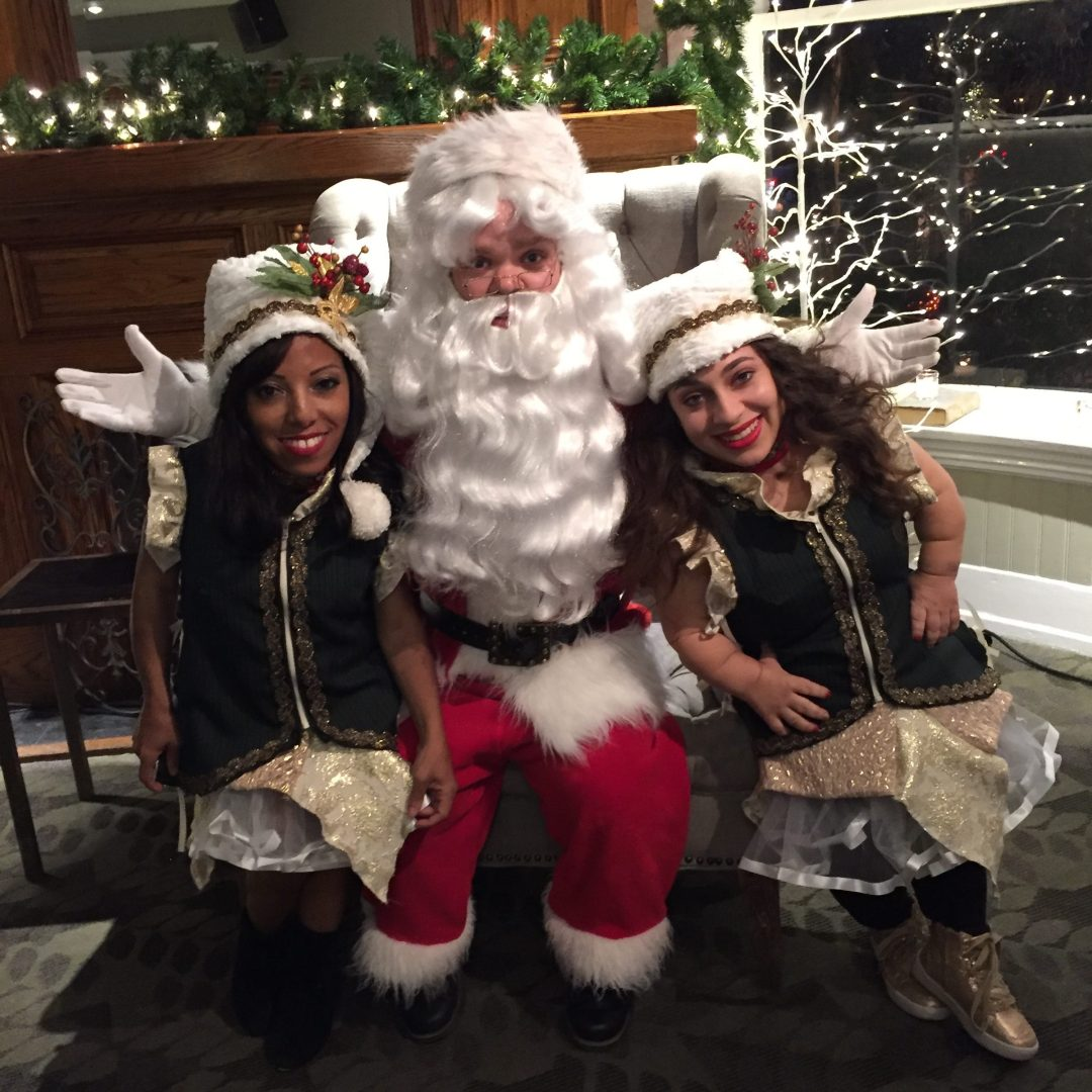 Little Person Elves and Santa Claus