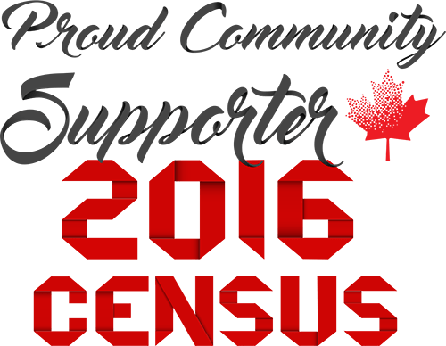 Image displaying text: Proud Community Supporter, 2016 Census