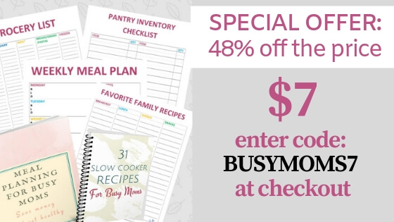Meal Planning for Busy MOm, Printables