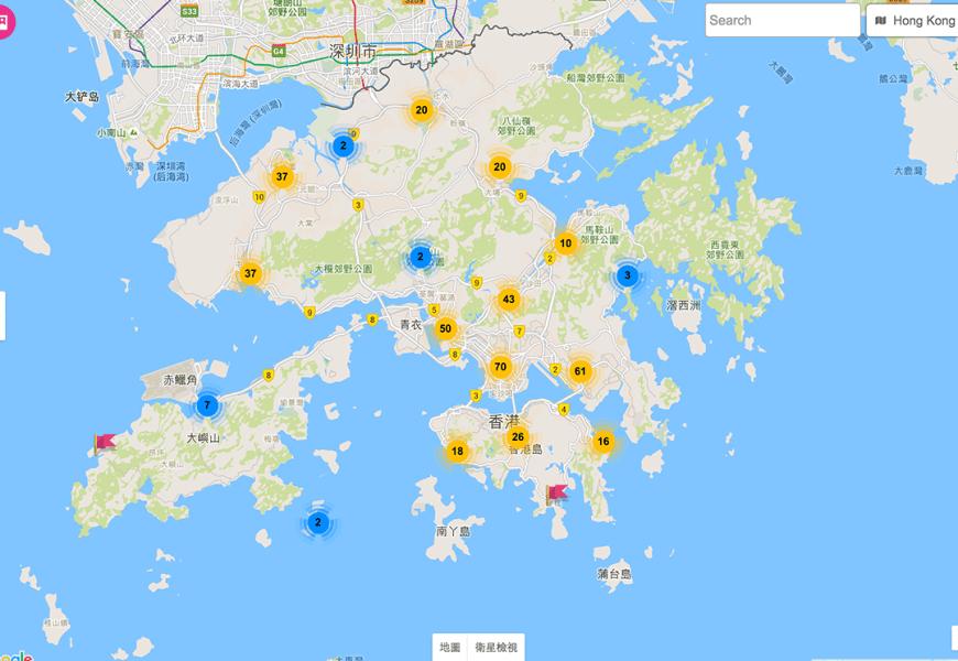 香港制服地圖收錄完成