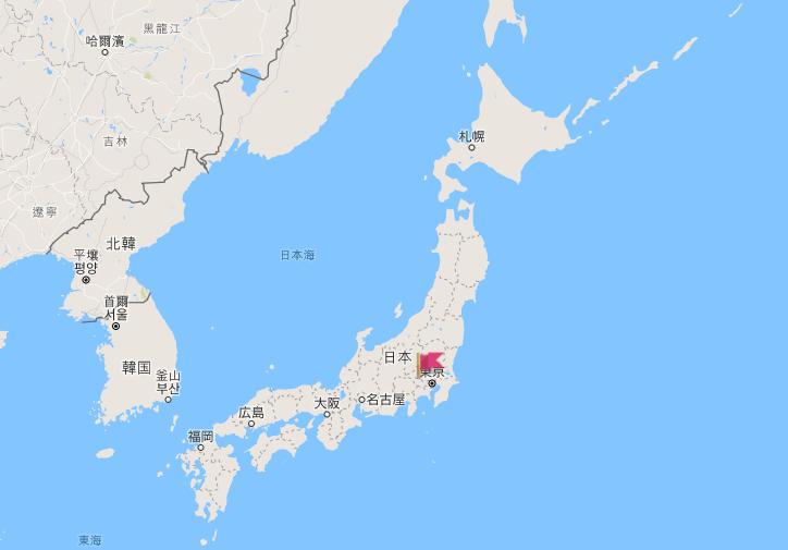 日本制服地圖