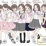 日本網友繪製台韓粉色水手服的學校