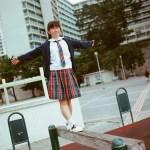 【Saki in Hong Kong School Uniform】Vol.17 華富 聖保祿學校 (MD: Saki 小崎,攝影師:Apache)