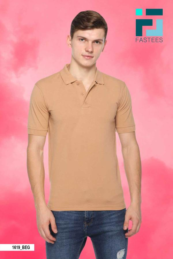 Beige-Cotton-Polo-T-Shirt-For-Bouncers-1619_BEG