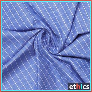 Blue-Chex-Formal-Uniform-Shirts-Fabrics-for-Corporate-Office-SB-113154.