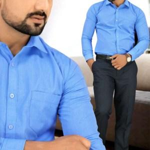 Blue-Color-Mens-Uniform-Shirt-Trousers-Set-For-Hospital-Staff-T-445452-1