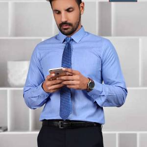 Blue-Dotted-Uniform-Shirts-for-Industrial-Workforce-Z-615052