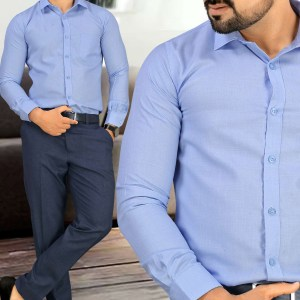 Blue-Stripes-Uniform-Shirts-Trousers-Set-Formal-Workwear-for-Corporate-Office-BS-85104-1