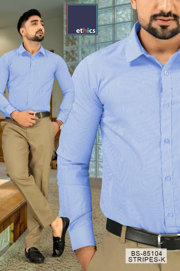Blue-Stripes-Uniform-Shirts-Trousers-Set-Formal-Workwear-for-Corporate-Office-BS-85104-2