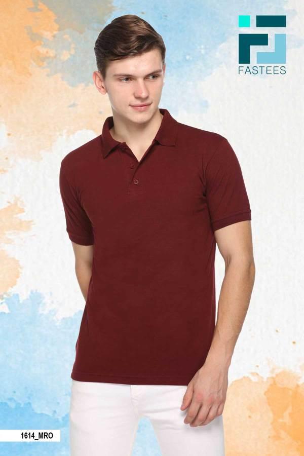 Maroon-Cotton-Polo-T-Shirt-1614_MRO