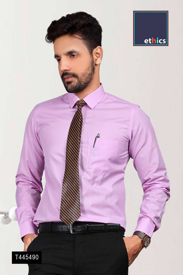 Purple-Plain-Readymade-Uniform-Shirts-for-Corporate-Staff-T445490