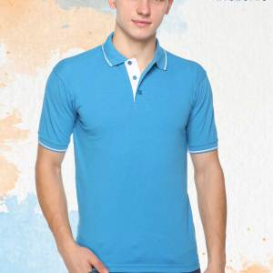 Sky-Blue-White-Pure-Cotton-Corporate-Event-Polo-T-Shirt-1669_BLWH