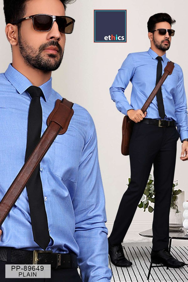 Solid-Blue-Corporate-Uniform-Shirts-Trousers-Set-S-445912