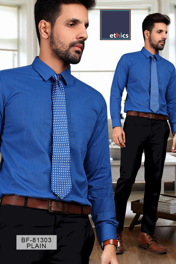 Solid-Blue-Mens-Formal-Uniform-Shirt-Trousers-Set-for-Corporate-Uniforms-BF-81303