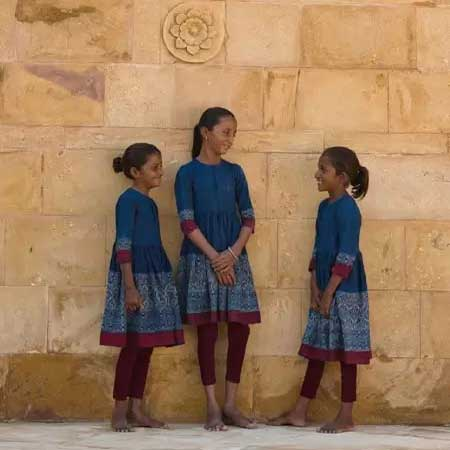 School Girls Wearing Sabyasachi Designed School Uniforms