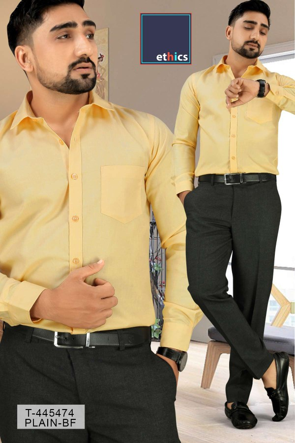 Yellow-Uniform-Shirts-Trousers-Set-for-Corporate-Workforce-T-445479-1