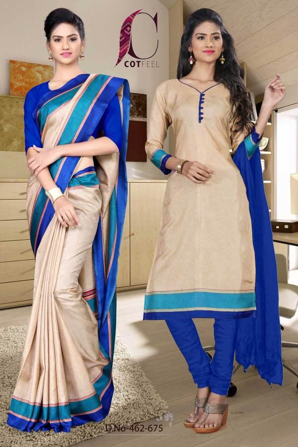 beige-and-blue-institute-uniform-saree-salwar-combo-462-675