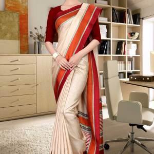 beige-and-maroon-tripura-cotton-teacher-uniform-sarees-461