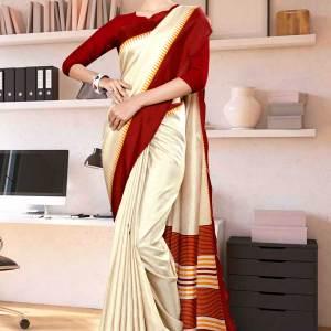 beige-maroon-gala-border-premium-polycotton-cotfeel-saree-for-office-uniform-sarees-1072-21