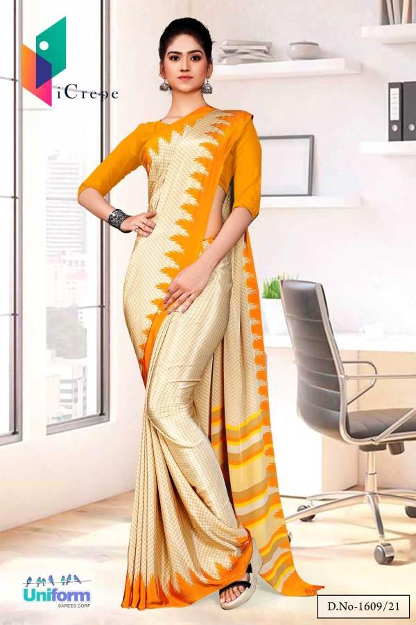 beige-musterd-premium-italian-silk-crepe-uniform-sareefor-school-teachers-1609