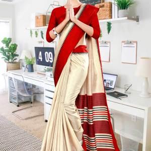 beige-red-gala-border-premium-polycotton-cotfeel-saree-for-school-uniform-sarees-1070-21