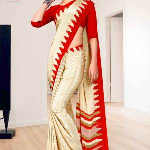 beige-red-premium-italian-silk-crepe-saree-for-staff-uniform-sarees-1610