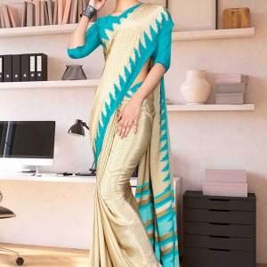 beige-sea-green-premium-italian-silk-crepe-saree-for-jelwellery-showroom-uniform-sarees-1608