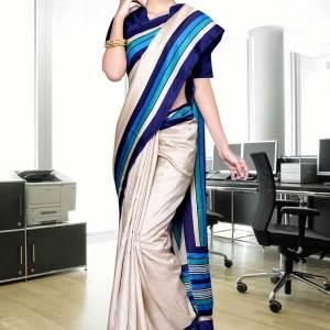 beige-with-blue-border-tripura-cotton-uniform-saree-329