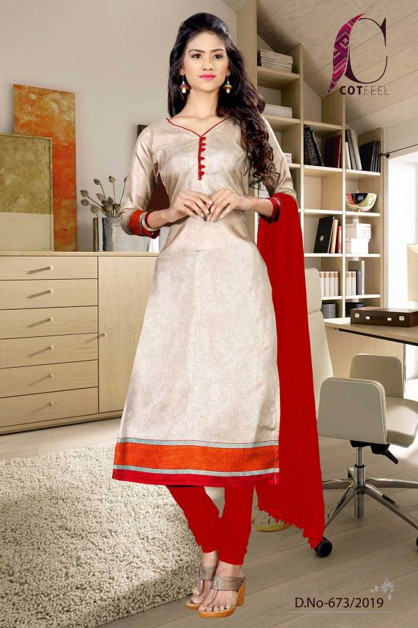 beige-with-maroon-border-tripura-cotton-fancy-uniform-salwar-kameez-673