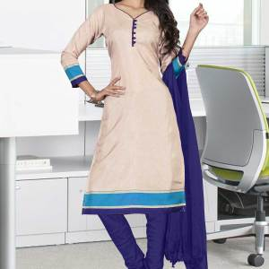 beige-with-navy-blue-border-tripura-cotton-worker-uniform-salwar-kameez-676