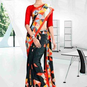 black-and-red-corporate-uniform-saree-835-19