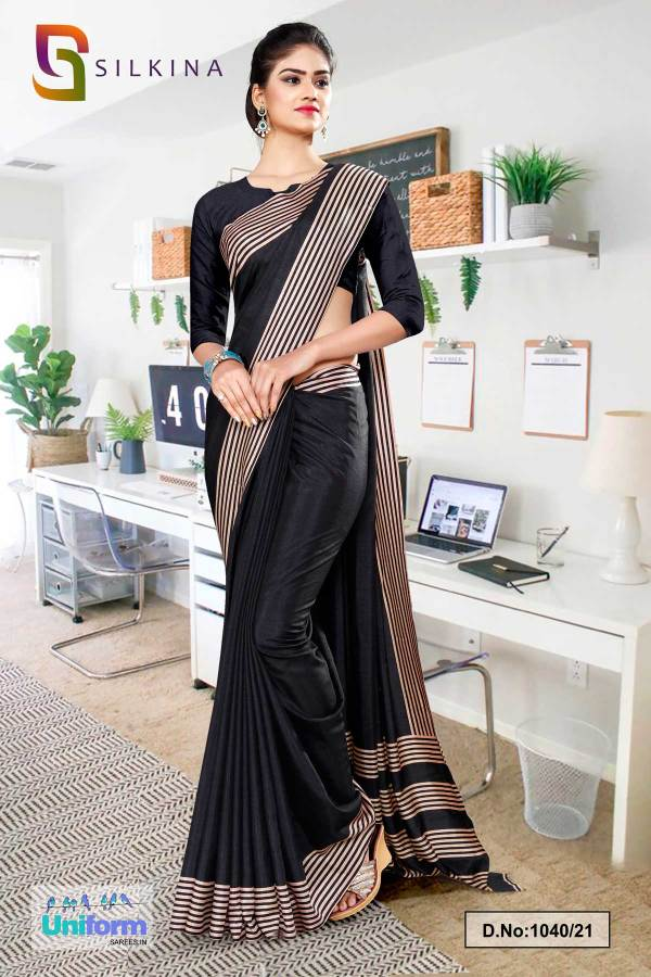 black-plain-border-premium-polycotton-raw-silk-salwar-kameez-for-jewellery-showroom-uniform-sarees-1040