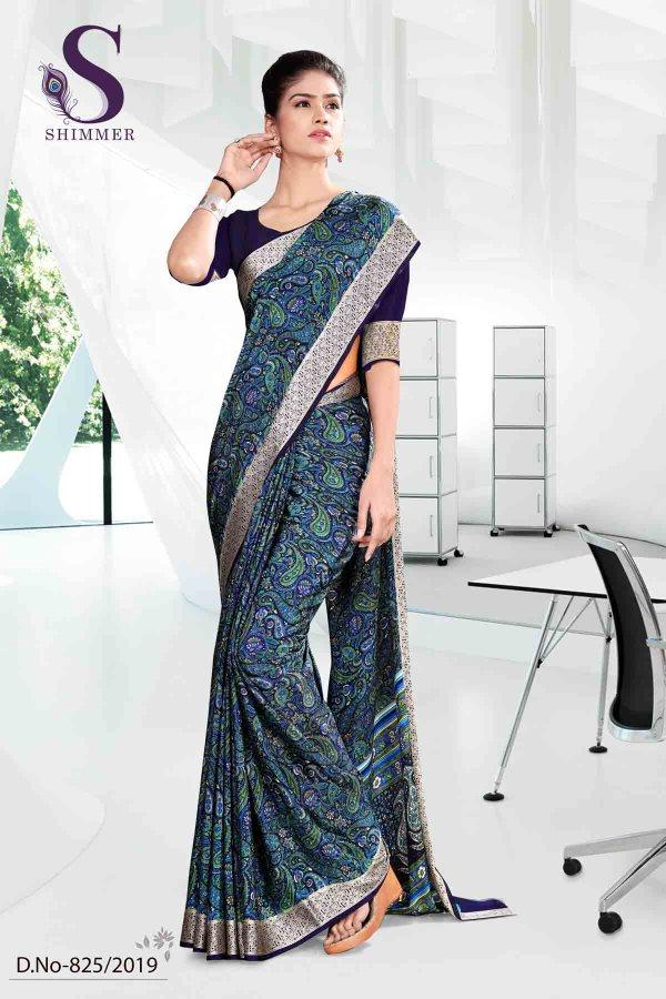 blue-and-black-school-shimmer-uniform-sarees-825
