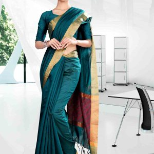 blue-and-golden-yellow-craftly-institute-uniform-saree-809
