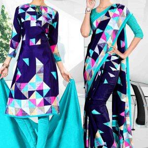 blue-and-light-blue-icrepe-silk-institute-uniform-saree-salwar-combo-828-907