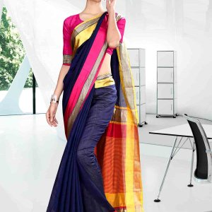 blue-and-yellow-with-pink-color-craftly-cotton-school-uniform-saree-811