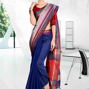 blue-and-yellow-with-pink-color-craftly-cotton-school-uniform-saree-814