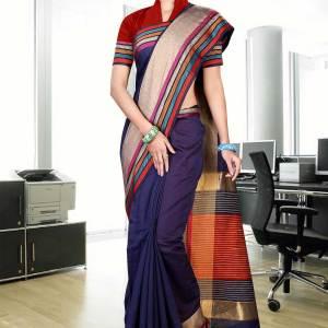 blue-multicoloured-uniform-saree-267