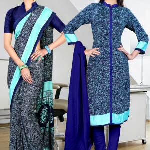 blue-sky-blue-border-italian-crepe-uniform-saree-salwar-combo-404