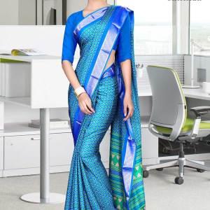 blue-turquoise-silk-crepe-jaquard-border-showroom-uniform-sarees-563