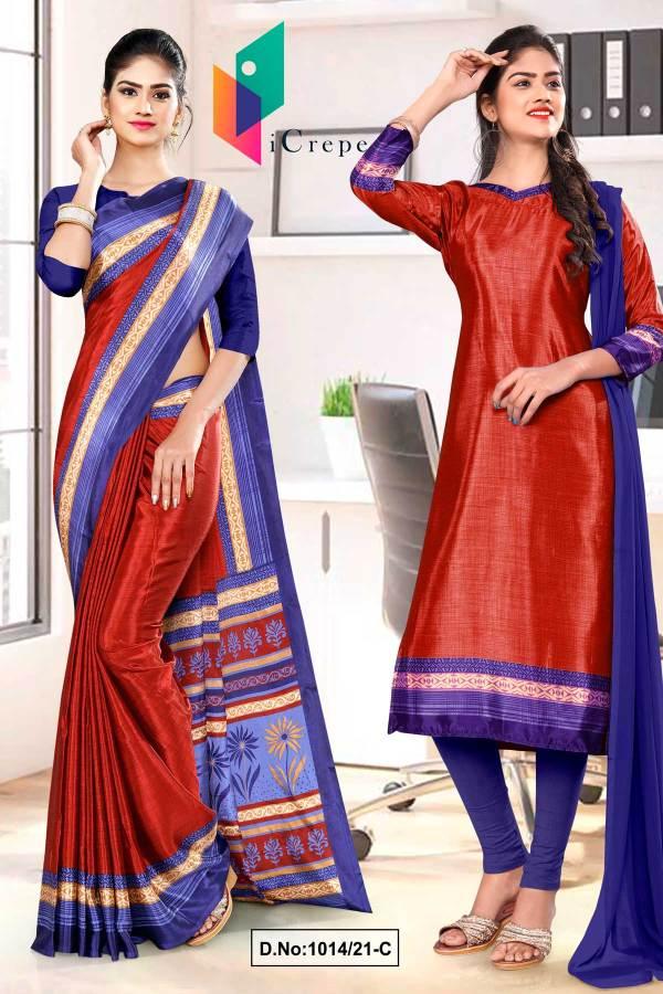 blue-wine-premium-italian-silk-crepe-saree-salwar-combo-for-jelwellery-showroom-uniform-sarees-1014-C