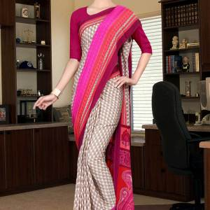 brown-and-red-italian-crepe-silk-office-wear-uniform-saree-522