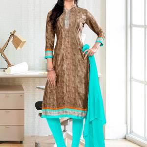 brown-sea-green-premium-italian-silk-crepe-salwar-kameez-for-receptionist-uniform-sarees-01030